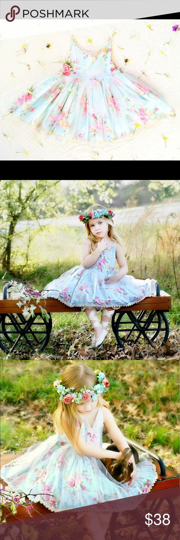 Secret Garden Tutu Dress Like Dollcake sz 4/5 7/8 NOT DOLLCAKE I have just a few of these left! They are perfect for Easter. They can usually ship same day.  Halos can be purchased from the talented Melissa Hammack RAG Couture Bowtique. Photography work by the talented Naomi&Co. Photography. Model is age 3 wearing a size 4/5 for size reference. Model wore size 2/3 best though.   Dresses shipped within the USA. ~Very limited stock~ Ready To Ship size 12-24m SOLD OUT size 2/3 SOLD OUT 3 size…