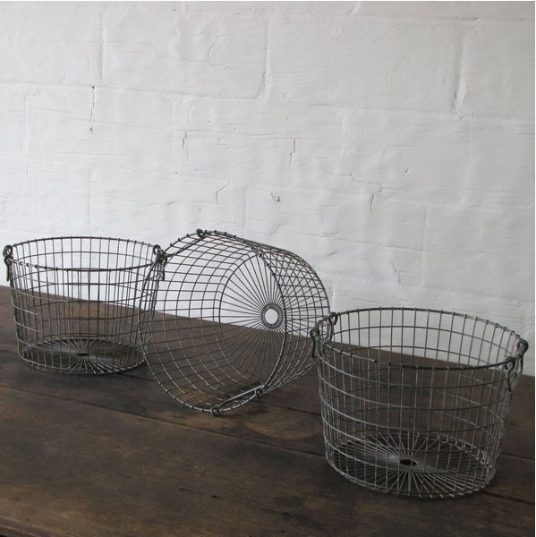metal baskets  |  industrial plant holders?