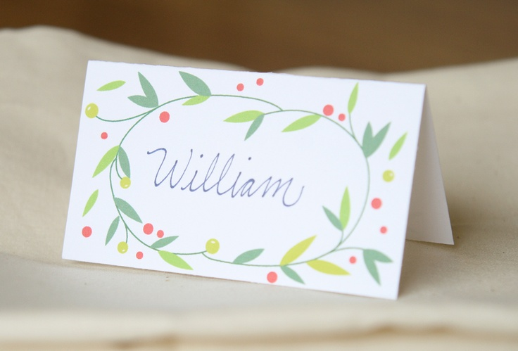 free printable christmas place cards  printables