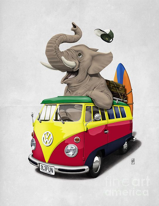Pack the Trunk art | decor | wall art | inspiration | animals | home decor | idea | humor | gifts
