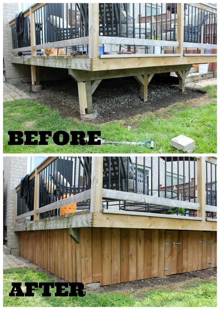 Under Deck Enclosure With Access Door Easy Diy Deck
