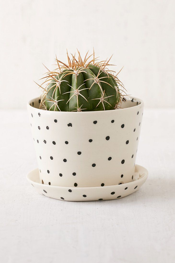 BTW Ceramics Mini Black Planter