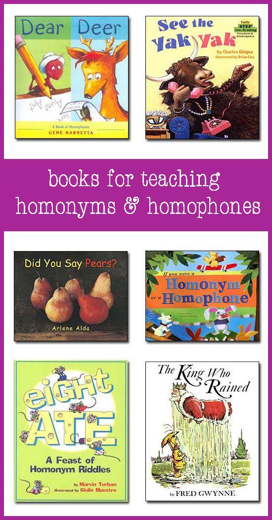 fun kids books that help teach homonyms and homophones