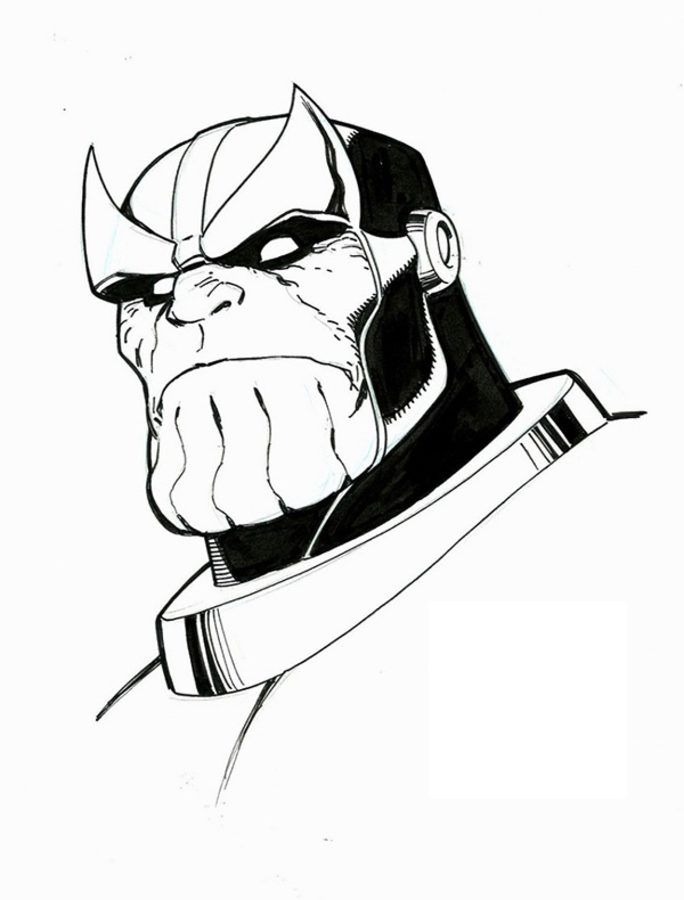Thanos Ausmalbilder Comics Marvel In 2019 Marvel Drawings