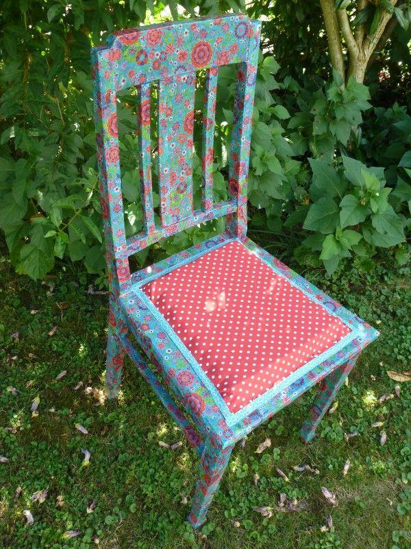 Stuhl verschönern mit Servietten-Technik