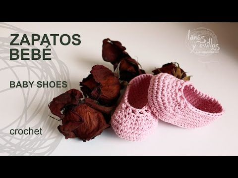 10 Tutorial Zapatos Bebé Crochet o Ganchillo