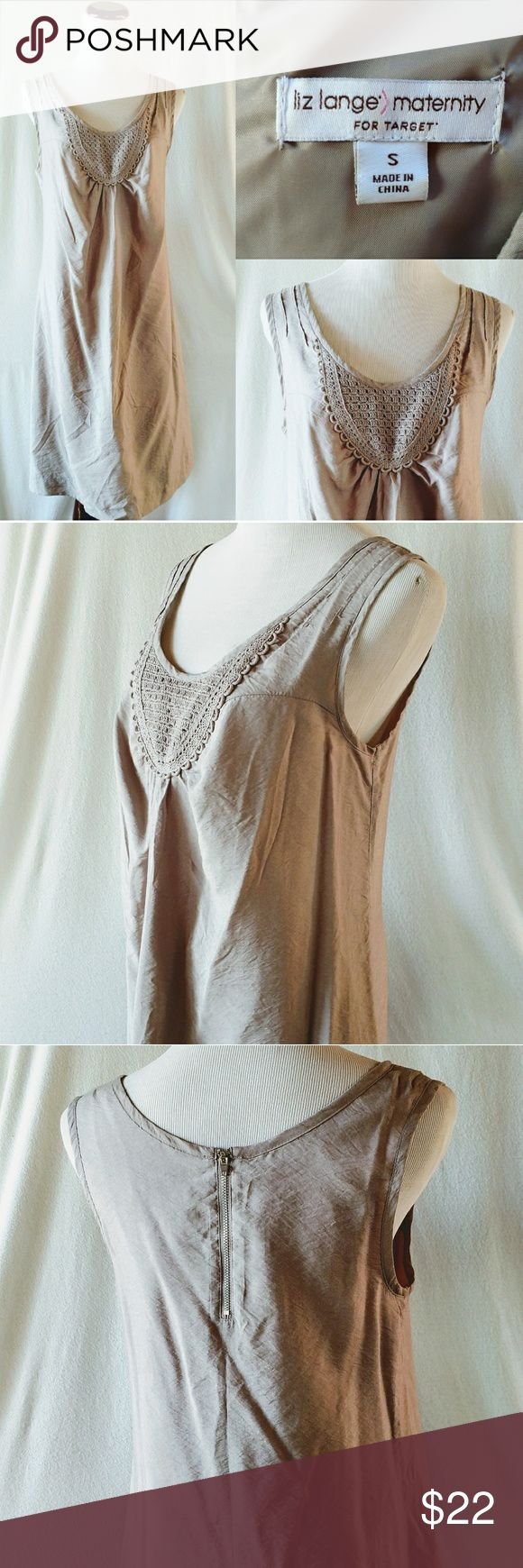 Liz Lange Maternity Beige Tan Embroidery Dress. S This cute dress is perfect for a baby shower or going out with friends!  Tags: Liz Lange maternity, pregnant, pregnancy dress, small, S, beige, taupe, tan, embroidery, crochet, cute, summer, spring, Easter, midi, baby shower dress, boho, bohemian Liz Lange Dresses Midi