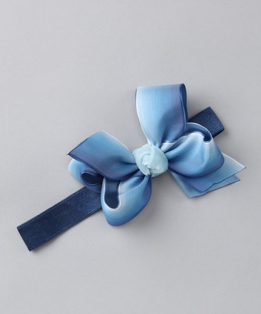 Take a look at this Blue Velvet & Satin Bow Headband by The Bow Band on #zulily today! - Aug 14 - 17, 2012