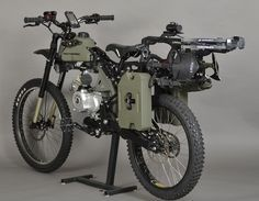 Motorized mountain bike, 90+ mpg with back up peddle power and cross country capability.
