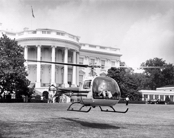 1957: Dwight Eisenhower became the first President to fly in a helicopter.