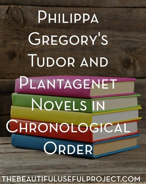 What a captivating series! All of Philippa Gregory's Tudor and Plantagenet novels listed in chronological order.