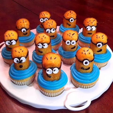 Despicable Me 3 | How to Make Minion Cupcakes - Despicable Me Minion Cupcakes by Sweet Sara J- Heavenly Cupcakes; follow my pinboard full of cupcake recipes. Learn how to make themed cupcakes by Asher Socrates. Come join and please Follow me @ashersocrates for the top trending cupcake and baking recipes. Learn to make blue icing frosting cakes. Fun baking guides and recipes from ashersocrates Get baking and make these minions despicable me cakes in the kitchen.