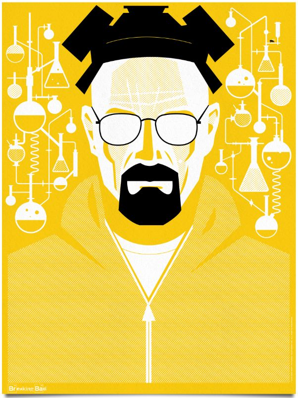 The greatest 39 breaking bad 39 posters ever photos orange for Art minimaliste citation