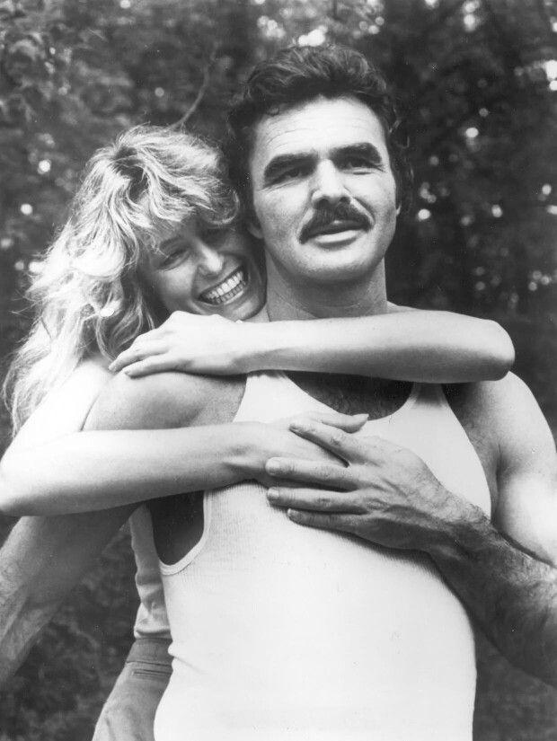 Looks like Burt Reynolds and Farrah Fawcett