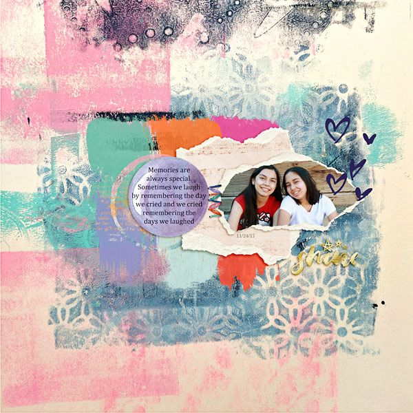 digital layout made by Flor using A new Chapter Elements, Paper Tears, Mixed Media Papers, Artsy Extras by Dawn Inskip