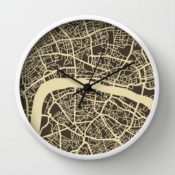London map wall clock by Jazzberry Blue
