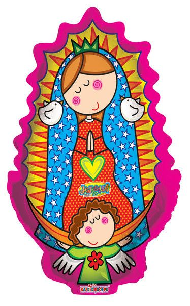 GLOBO CH - VIRGENCITA PLIS (Pink Oval) Any Occasion