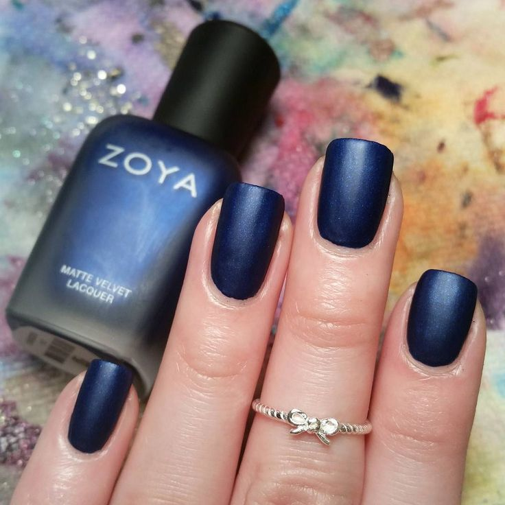 Yves By Zoya Nail Polish From The 2015 Winter Collection With A Matte Top Coat