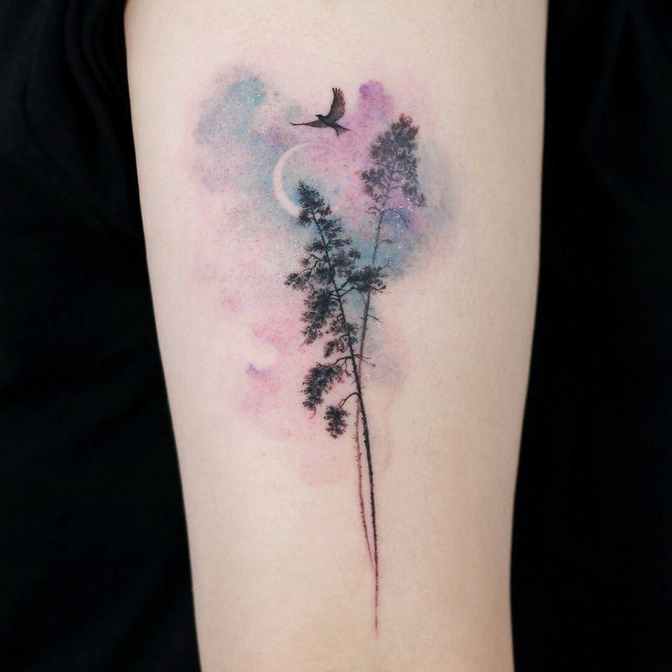 Image Result For Tree Moon Star Ocean Tattoo Cool Tattoos Tattoo Artists Tattoos