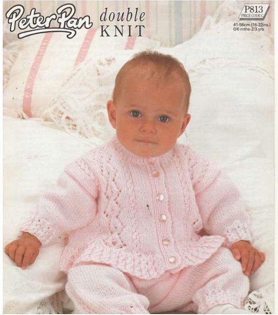 knit baby pram set cardigan leggings  tunic by OhhhBabyBaby