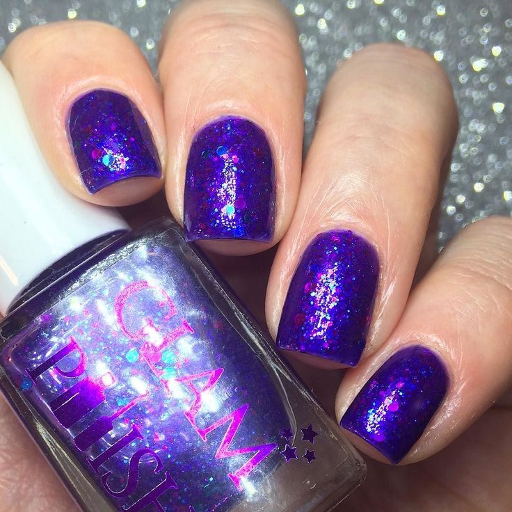 Traveling right down memory lane today with Day 3 of our #31daysofglam where we are celebrating 3yrs of @glampolish_ being on Instargram with one of the polishes from her first ever launch back in November 2012.  This is 'Indigo' a purple jelly with a pink shimmer packed full with multi sized blue and pink dots  This polish was one of nine polishes released in her first launch back on 22nd November 2012 unfortunately I have never been able to get my hands on the other eight.  Pop over to…