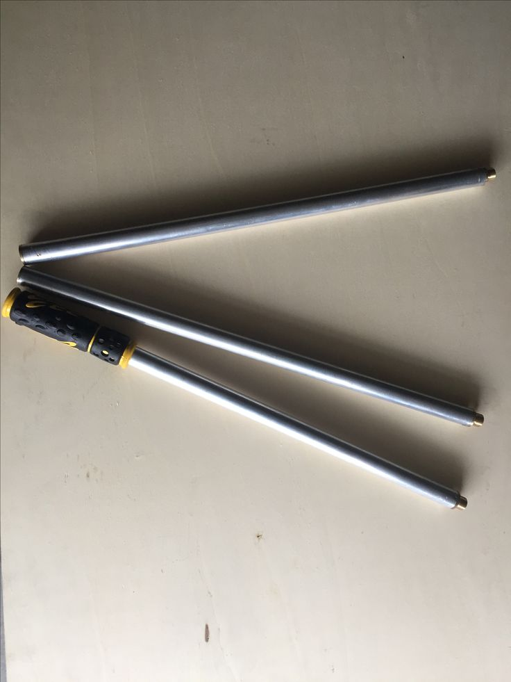 Bastoni allungabili per inglobabimbi  In alluminio con raccordi in ottone lunghezza  totale 150 cm