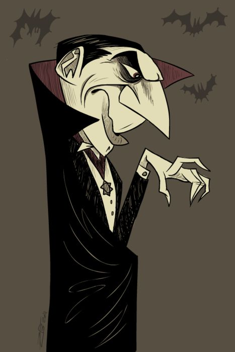 Dracula....they show all his movies this time of year...and I love it!!