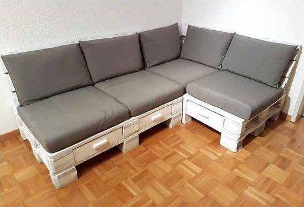 Oltre 20 migliori idee su divano pallet su pinterest - Rivestire un divano fai da te ...