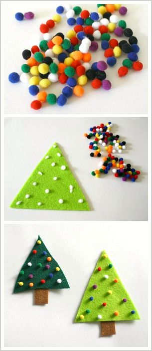 Easy Christmas Craft for Toddlers and Preschoolers: Make a Felt Christmas Tree Pin (or Ornament)! ~ BuggyandBuddy.com