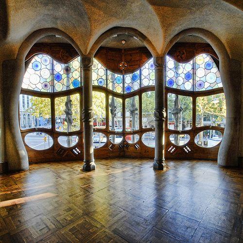 In side out of Casa Batllo designed by Antonio Gaudi in Spain,Barcelona    (via eelesa-deactivated20110328-deac)