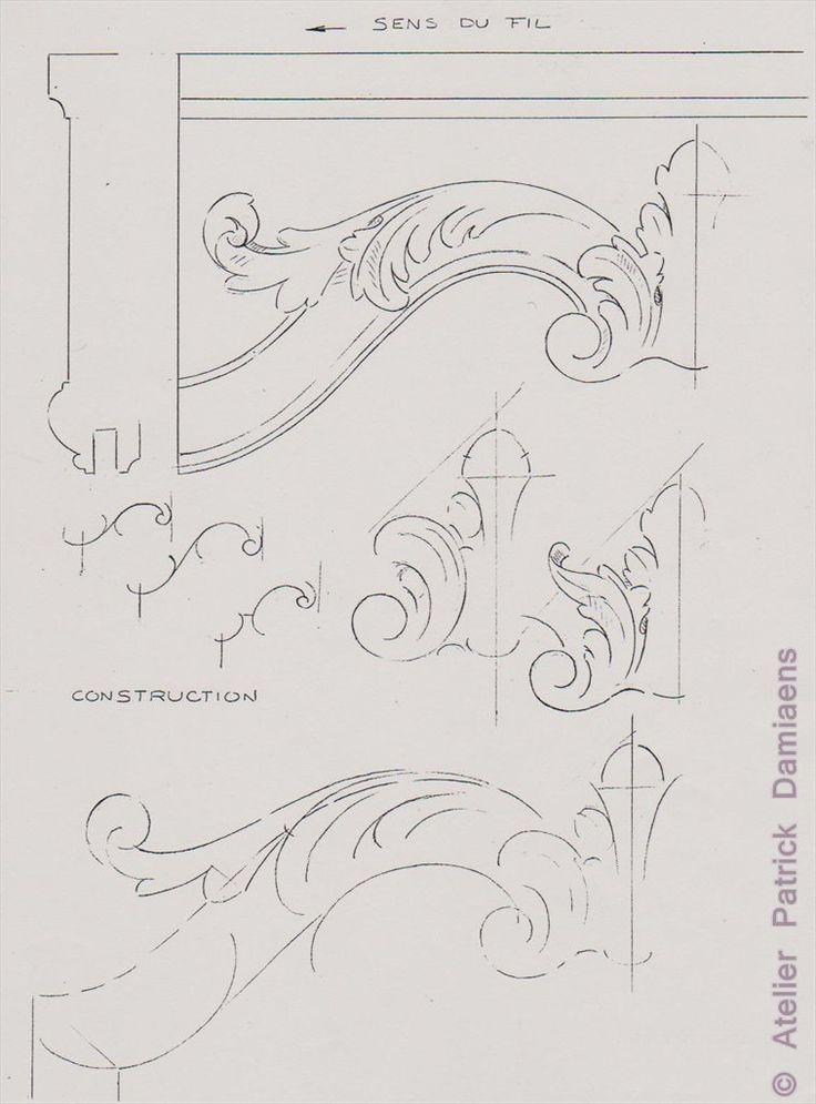 Sculpture Ornementale PATRICK DAMIAENS: LA FEUILLE D'ACANTHE | MOTIFS ORNEMENTAUX | Des motifs sculpture ornementale sur bois | L'Acanthe un motif ornemental