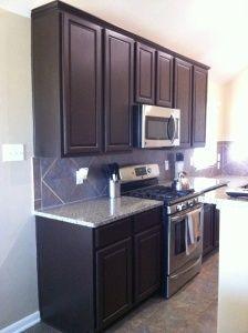DIY kitchen cabinet renovation.