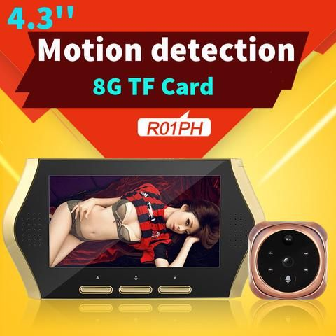 4.3'' Video Peephole Wireless Door Camera TFT LCD For Digital Viewer Peepholes Video Recorder Night Vision Motion Detection Eye. | wonderfestgifts.com