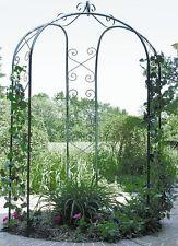 3-Sided Gazebo Arch METAL Outdoor PATIO GARDEN Centerpiece Iron Wrought Green