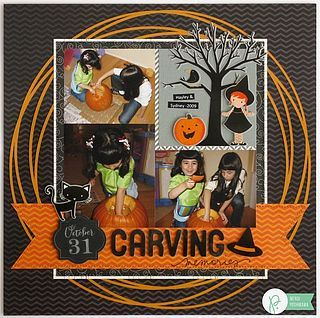 A Pebbles Inc. Thirty-One Halloween Inspired Layout
