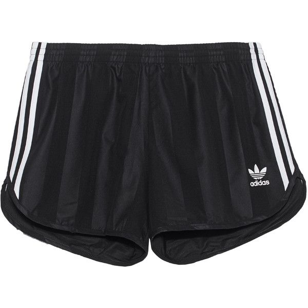 ADIDAS ORIGINALS Football Black // Track shorts ($55) ❤ liked on Polyvore featuring men's fashion, men's clothing, men's activewear, men's activewear shorts, black and adidas originals