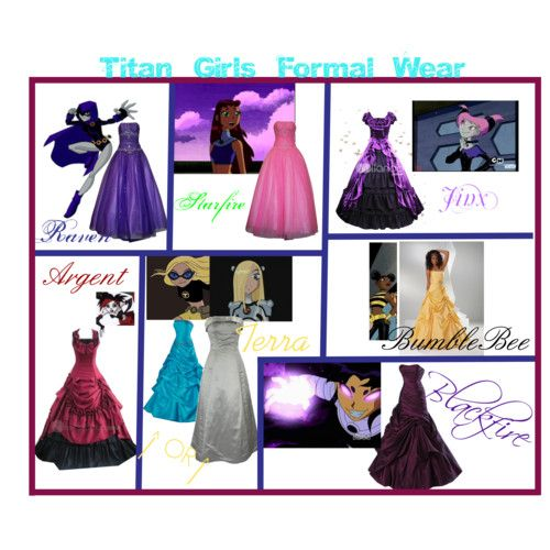 Teen titans prom dresses. Love it except for TERRA.