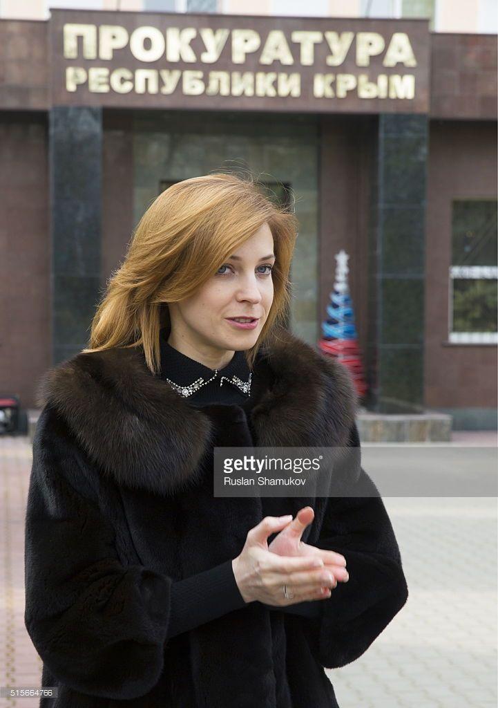 SIMFEROPOL, RUSSIA. MARCH 15, 2016. Natalia Poklonskaya, prosecutor general of the Republic of Crimea, by her office. Ruslan Shamukov/TASS
