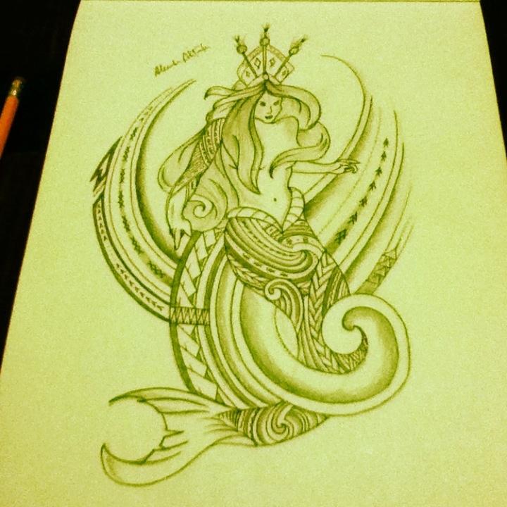 Polynesian Mermaid Tribal. | Polynesian Tribal Art ...