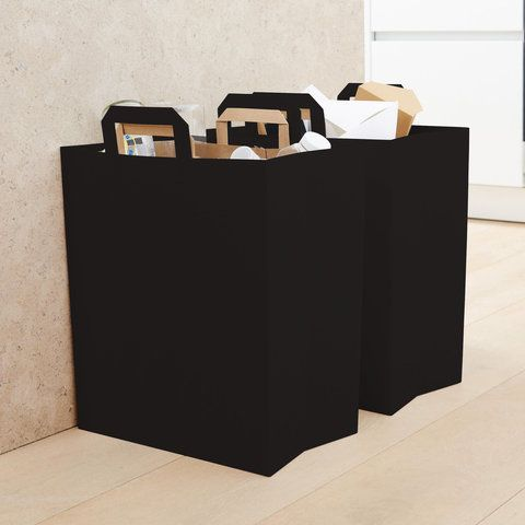 Modern Recycling Bin Set in Onyx