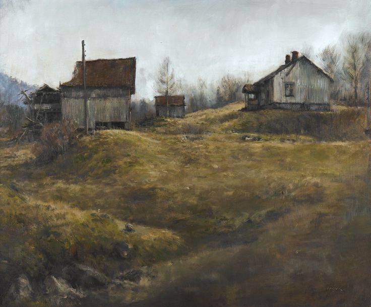 Memoryfarm, Oil on canvas by Jonny Andvik