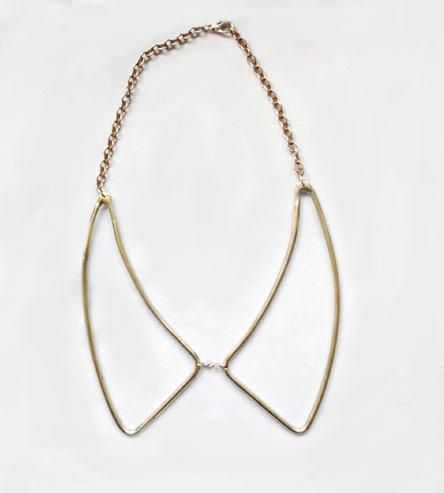 The Anti-Collar Necklace: Brass Outline, Anti Collars Necklaces, Clothing Shoes Accessories, Pretty Things, Fashion Accessories, Baubles, Anticollar Necklaces, Outline Collars, Vintage Brass