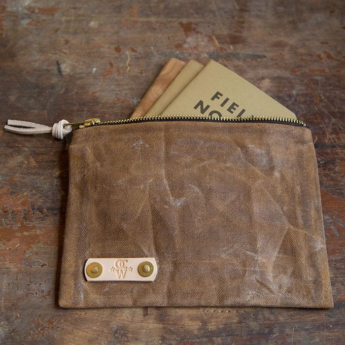 This Is The Waxed Canvas Field Notes Pouch By Old Church