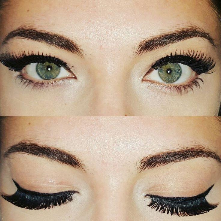 1° trucco eye-liner con applicazione cigliafinte #eyeliner #makeup #mua #makeupassion #makeupassion #fakelashes