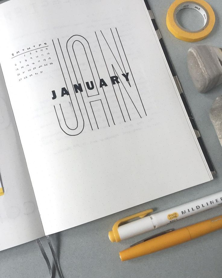 "StudioMorsa auf Instagram: ""Monatliche Verbreitung im Januar! Ab dem richtigen Monat. . . . #bujo #bujoinspiration #bujoideas #minimalism"
