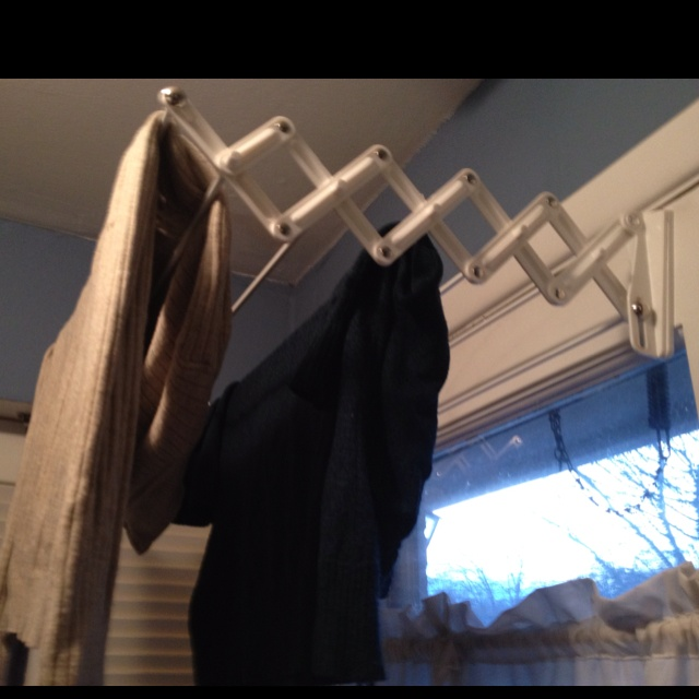 Our new drying rack for our small laundry room. Thanks to Target and my husband!