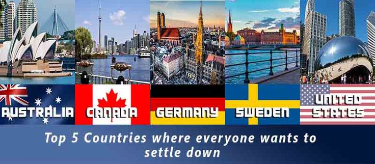 Top 5 Countries Where Everyone Wants to Settle Down