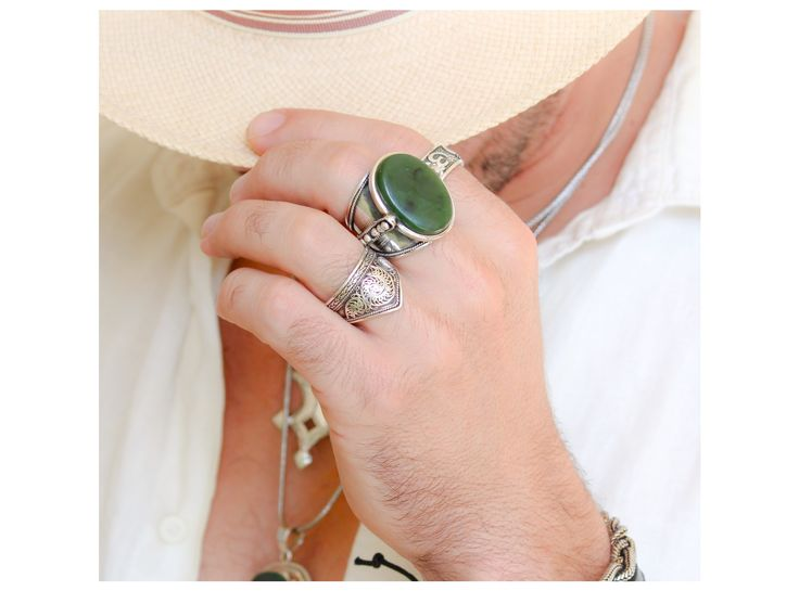 Jade and sterling silver. Sunday sessions. Inspired Tribe. Men's jewellery shoot.