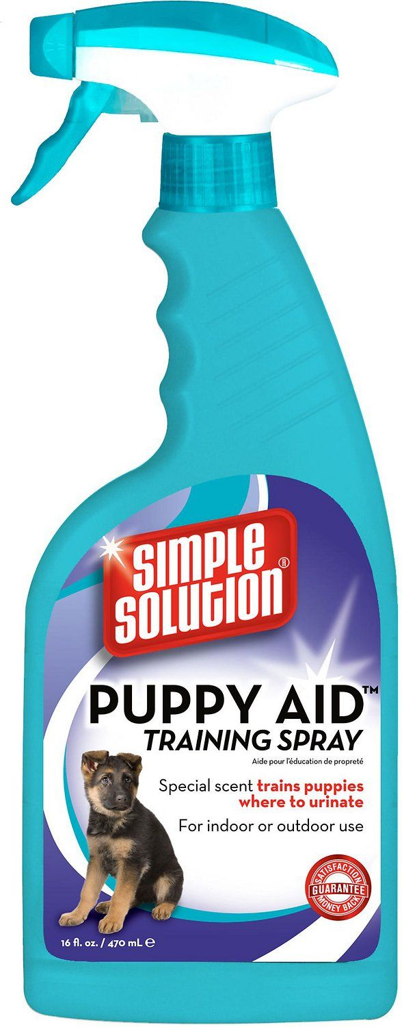 Simple Solution Puppy Potty Training Aid is scientifically formulated to encourage puppies to urinate in a specific area of your choosing. Our Puppy Potty Training spray reduces housetraining time when used as directed. Safe for use around pets and children when used as directed.