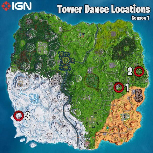 Fortnite Week 5 Challenges Tower Locations And Battle Star Map The
